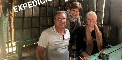Ian McCabe (Misionero en India) Fiona Beshwall (Directora de Fiet Gratia). Rosa Barrachina (Obra Social La Roca)