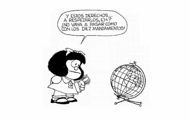 ,Mafalda Biblia, Derechos Humanos