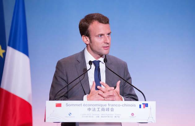 Macron, durante una conferencia en 2015. / Wikimedia,macron