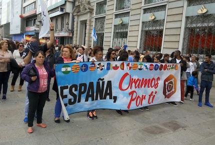 La marcha transcurrió sin incidentes.