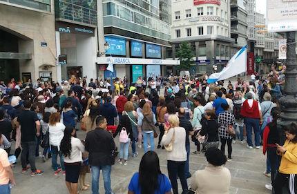 En A Coruña, unos 1.500 de evangélicos marcharon juntos.