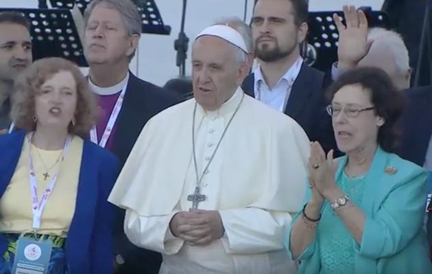 El papa Francisco, durante la vigilia ecuménica celebrada en Roma este 3 de junio.,francisco catolicos