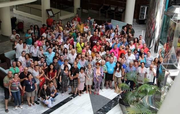 Foto de grupo del retiro de matrimonios,Cara a cara, matrimonios evangélicos