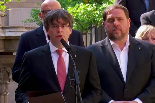 Carles Puigdemont anuncia el referéndum de independencia para el 1 de octubre. / GenCat,