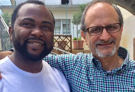 Stanley y Evangelista, pastores, colaboran en la misión.