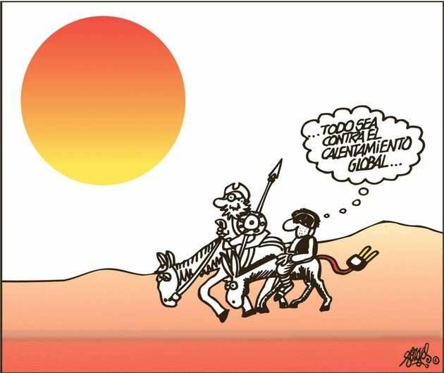 ,cambio climático, Sancho Panza