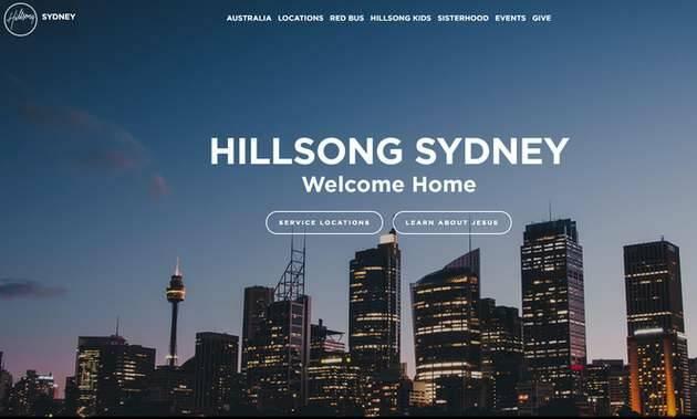 Web de Hillssong - Australia,