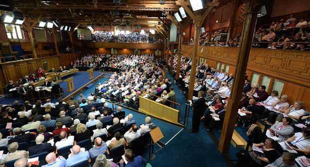 <p> Asamblea General de la Church of Scotland / Getty Images</p> ,