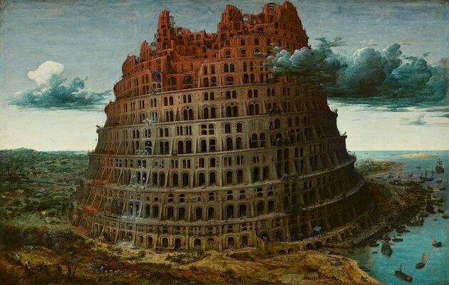 La pequeña torre de Babel (c. 1565), Pieter Brueghel el Viejo.,