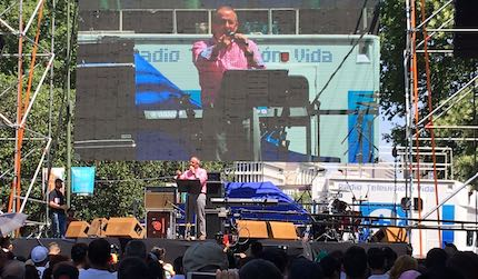 Juan Carlos Escobar, predicando. / Carlos Fumero
