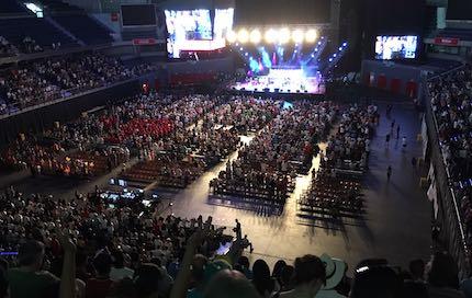Miles de personas de toda España acudieron a la celebración. / Carlos Fumero