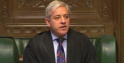 El Portavoz de la Cámara de los Comunes, John Bercow. / PA