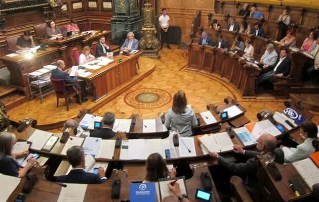Un pleno reciente del Ayuntamiento barcelonés / Europa Press, imagen de archivo,pleno barcelona, ayuntamiento barcelona