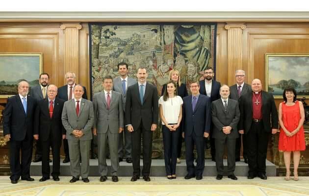 Foto oficial del encuentro de los Reyes con los representantes evangélicos,#500Reforma reyes, Ferede reyes