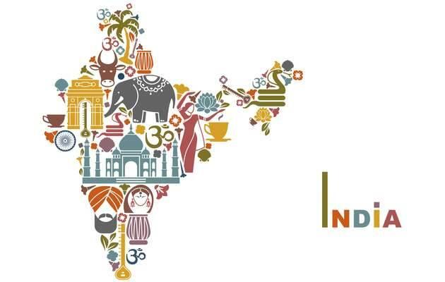 ,India, mapa