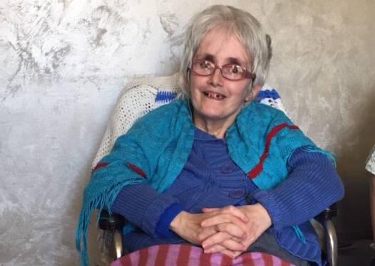 Lucia Peppe, en la silla de ruedas que le acompaña desde siempre. / V.Rossato,
