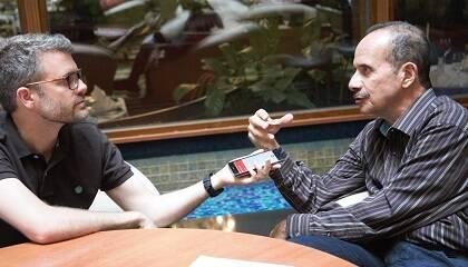 Joel Forster y Ramez Atallah, durante la entrevista realizada en Wisla (Polonia). / D. Hofkamp