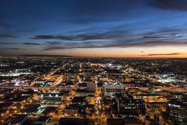 Perspectiva de la ciudad de Los Angeles.,