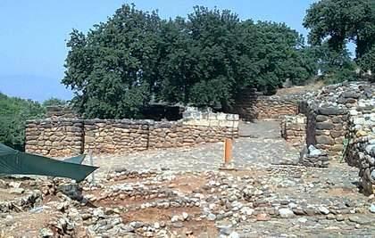 Muros de piedra en Tel Dan, donde Mykytiuk encontró una referencia al rey David