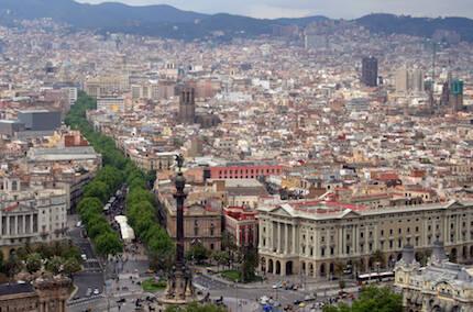 La Rambla de Barcelona, donde se ha producido el ataque terrorista.