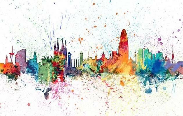 ,Barcelona skyline