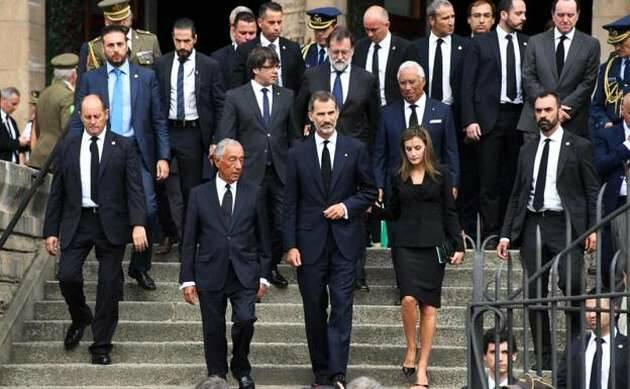 La salida de las autoridades tras la misa en la Sagrada Familia,misa funeral, atentado Barcelona