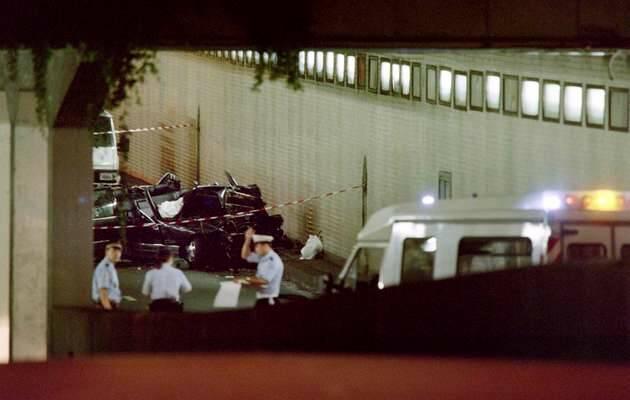 El coche en que viajaba Diana de Gales tras el accidente,Diana de Gales, accidente