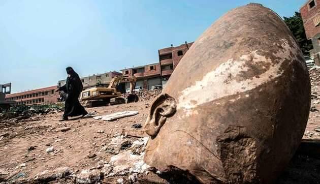 Los restos de la cabeza en Jasor / AFP,ESTATUA JASOR, arqueologia biblica