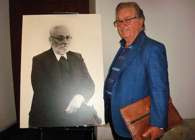 J.A. Monroy en la Casa-Museo Unamuno, Salamanca. FotoJ. Alencar.,