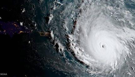 Imagen satelital del huracán Irma. / NOAA