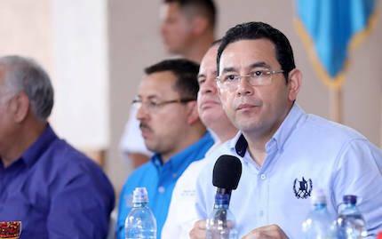Jimmy Morales, en un acto político en 2017. / Fb Jimmy Morales