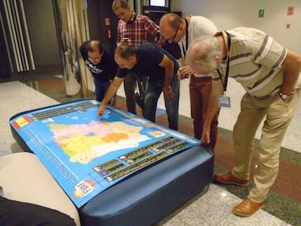 El mapa elaborado por EVAF.