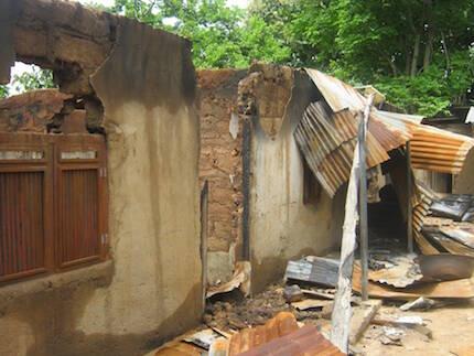 ropiedades cristianas destruidas por ganaderos fulani en 2016. / Foto: Puertas Abiertas