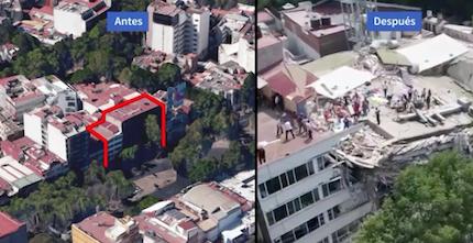 En la imagen, uno de los derrumbes en la capital. / Univision