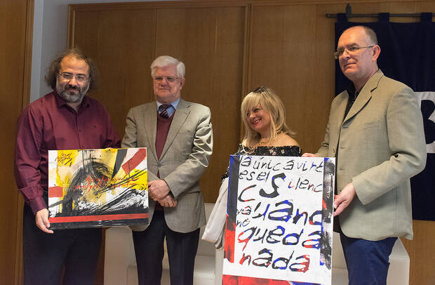 A.P. Alencart, Beatriz Garrido, Stuart Park y Juan Carlos Martín, en el IX encuentro Adece. / Héctor J. Rivas,