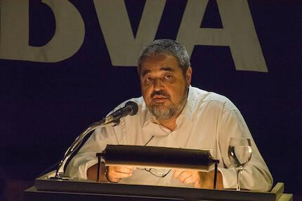 Carlos Aganzo, durante su conferencia el 22 de septiembre. / Héctor J. Rivas