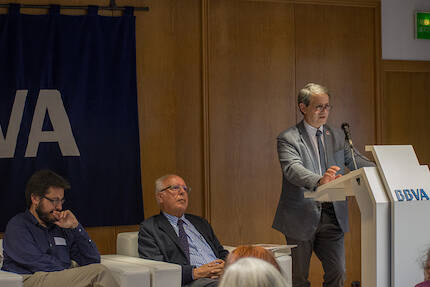 Coloquio Alberto de Frutos, Jesús Fernández González y Luis Fajardo. / Héctor J. Rivas