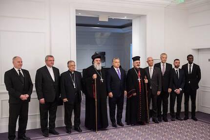 Representantes de iglesias y comunidades cristianas en Oriente Medio. / Gergely Botár/kormany.hu