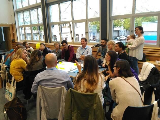 Grupos de debates durante Bridge 2017. / J. Forster
