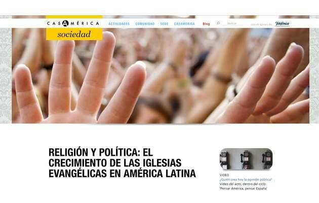 Web de la Casa de América,Casa América, Evangélicos Latinos