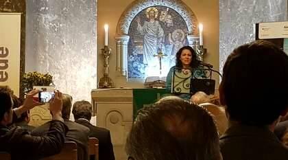 Raquel Molina, durante su reflexión bíblica / P+D