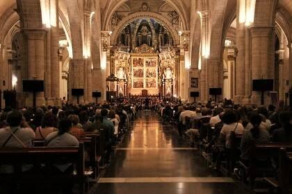 Vista general de la catedral, durante el concierto. / Manuel Damas