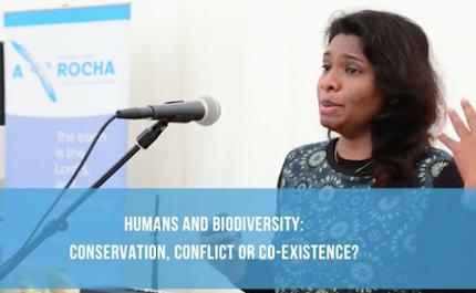 La Dr. Deepa Senapathi, de India, habló sobre biodiversidad. / A Rocha