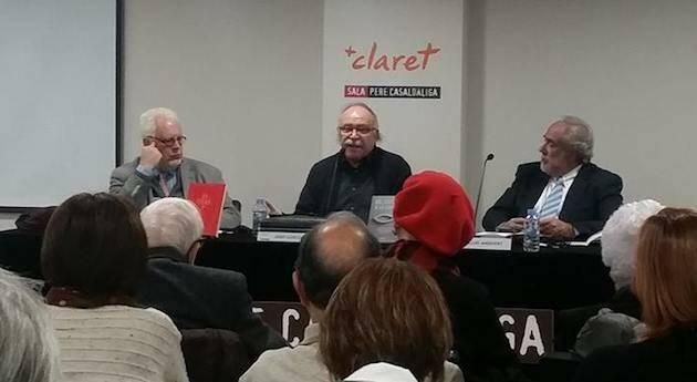 Desde la izquierda, Jose Luis Andavert, Josep Lluís Carod Rovira, y Guillem Correa.,