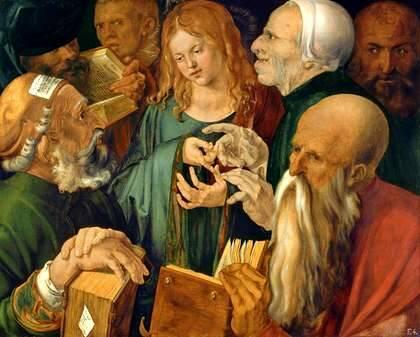 jesús entre los doctores (Alberto Durero)