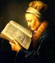 Anciana leyendo la Biblia (Rembrandt)