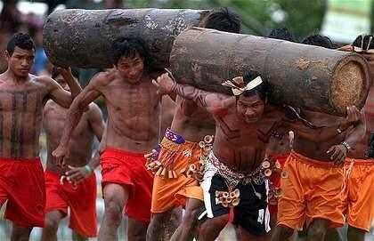 Una competición deportiva xavante