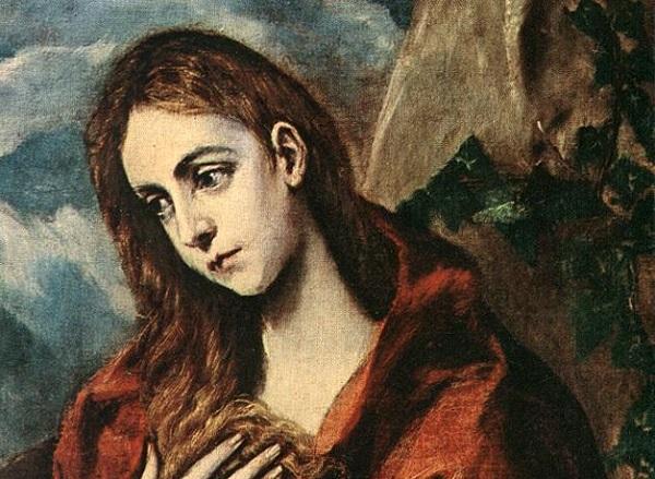 Imagen de Magdalena penitente, de El Greco,