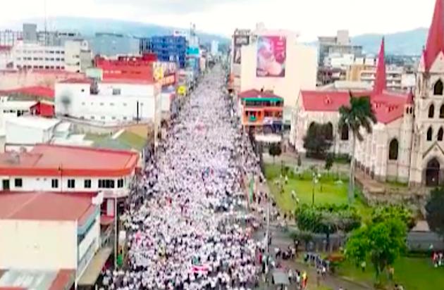 Marcha por la vida, este domingo en Costa Rica. / Teletico,