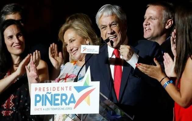 Sebastián Piñera habla ante sus simpatizantes tras ganar las elecciones presidenciales este domingo / EFE,Sebastián Piñera, presidente Chile